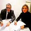 Firma del convenio entre Eduardo Ortiz y COLEFA